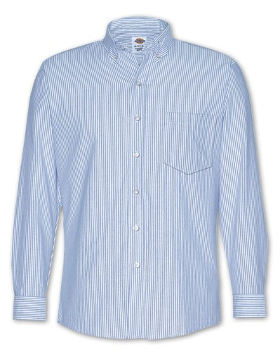 Camisa Dickies Oxford con Boton en Cuello M Larga BS y FB SS36