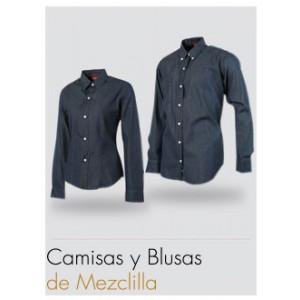 Blusa Prezenza Mezclilla