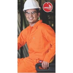 Overol Unitam Industrial Retardante a la Flama con cinta reflejante