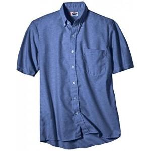 Camisa Dickies Oxford con Boton en Cuello M Corta SS46FB
