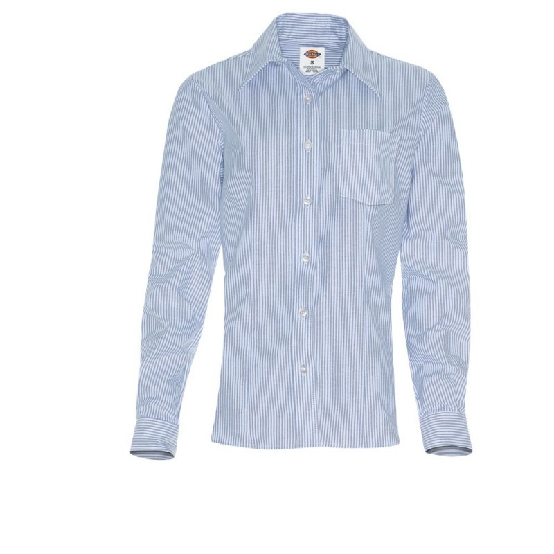 Blusa Dickies de Mujer Strecht Oxford FL254