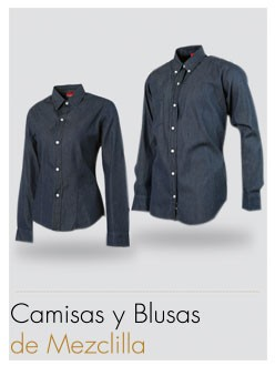 Camisa Prezenza Mezclilla
